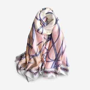 Silky Scarf shawl in classic design pink